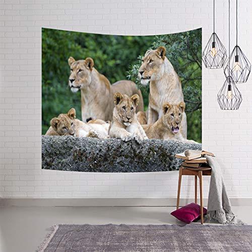 WJH 3D Digital Painting Animal World Wandbehang Teppich Strandtuch...