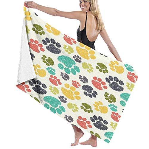Wearibear buntes Hunde-Handtuch, schnell trocknend, Duschtuch, Strandtuch, super...