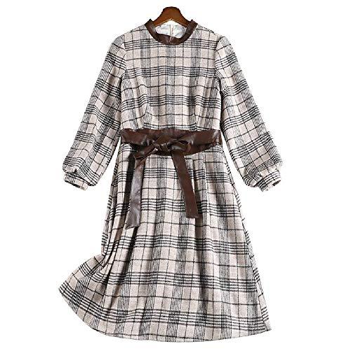 YNPM Damen Kleid, modisch, für Herbst und Winter, Größe XL, koreanische...