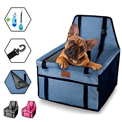 dainz® Stylischer Hunde-Auto-Sitz für kleine Hunde & Welpen bis ca. 7kg  ...