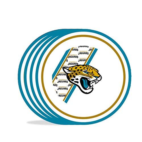 Duck House Teller, Motiv NFL Jacksonville Jaguars aus Melamin, 25 cm, 4 Stück