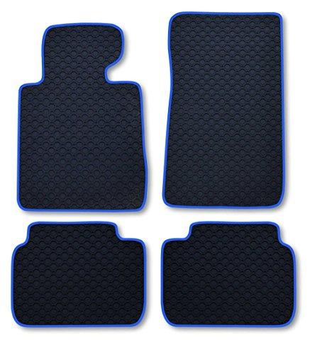 RAU Gummimatte Fussmatte Octagon mit Blauer Bandeinfassung - Fahrzeug Siehe Text