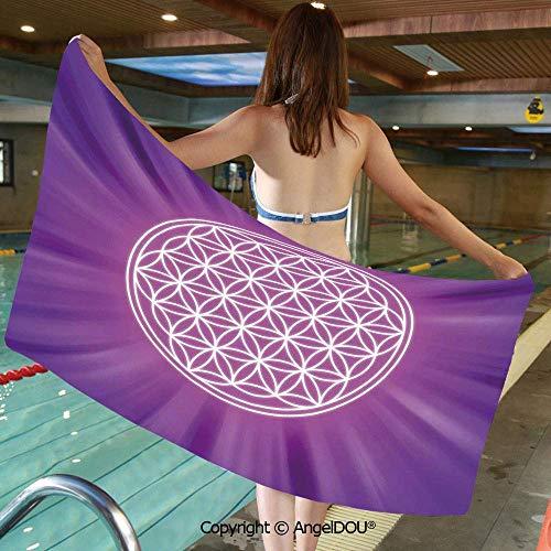 SWKLL Printed Swim Sport Travel Strandtücher Zusammenfassung Überlappende...