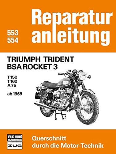 Triumph Trident BSA Rocket 3: T150 / T160 / A75 ab 1969 // Reprint der 7....