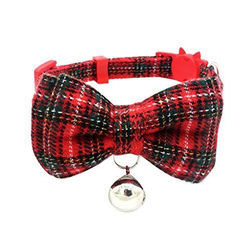 Yowablo Haustier Hundehalsbänder Einstellbare Bogen Halskette Bedrucktes...