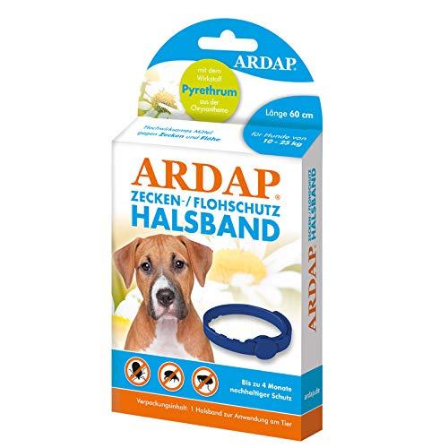 ARDAP Zecken- & Flohschutzhalsband für Hunde bis 25kg - Bis zu 4 Monate...
