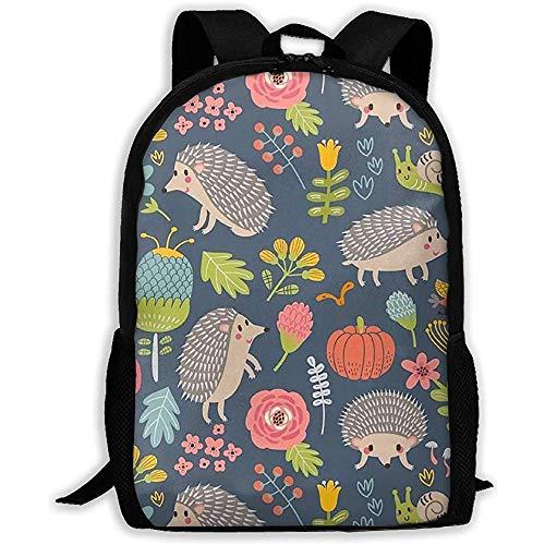 Lmtt Rucksack Cute Hedgehog Funny Animal Bookbag Lässige Reisetasche für Teen...