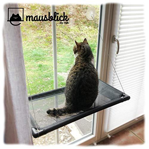 riijk Mausblick Katzenliege Fensterplatz, Perfekter Fensterliegeplatz für...