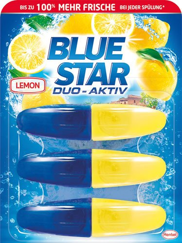 BLUE STAR Duo-Aktiv Lemon - 9X 3 WC-Steine