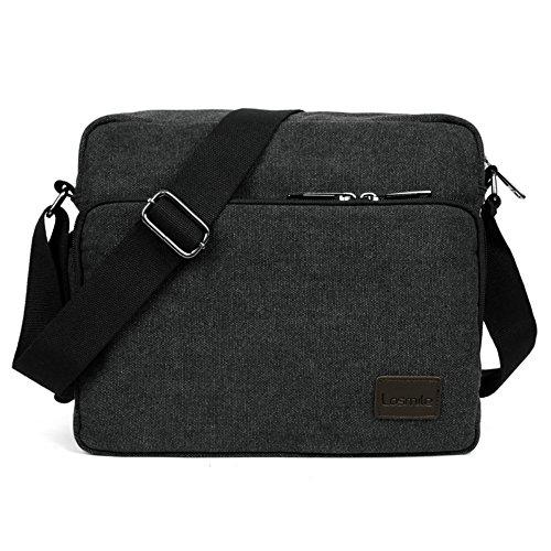 LOSMILE Umhängetasche, Mittel Schultertasche Messenger Bag, Unisex Casual...