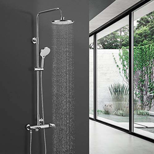 BONADE Regendusche Duschsystem mit Armatur Edelstahl Duschset inkl. Duschbrause,...