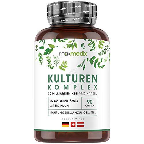 Kulturen Komplex mit 30 Mrd. KBE - 20 Bakterienstämme & BIO Inulin - Mit...
