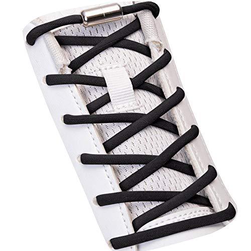 SULPO Elastische Schnürsenkel ohne Binden - Elastisch, mit Metall-Verschluss...