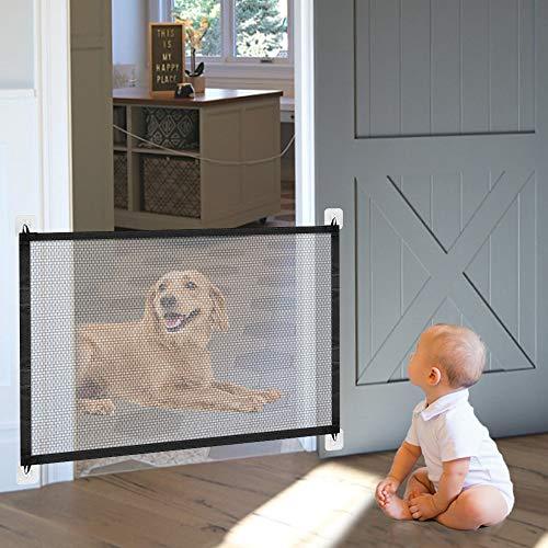 Hundebarrieren, 110cm x 72cm Magic Gate Faltbar Hunde Türschutzgitter Tür- &...