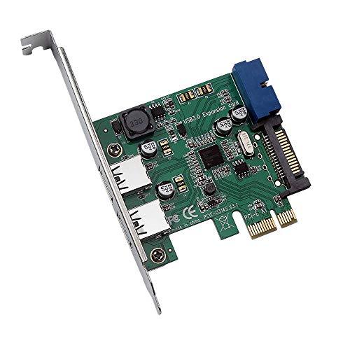 Xigeapg PCI-E zu USB 3.0 Hoch Geschwindigkeits Erweiterungs Karte 19 Polige PCI...