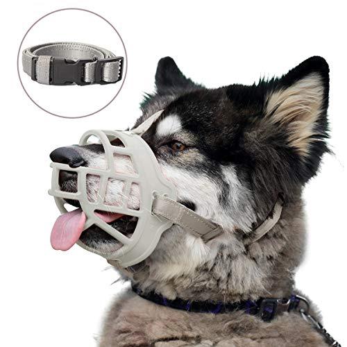 Maulkorb aus weichem Silikon für Hunde, ermöglicht das Höschen und Trinken,...