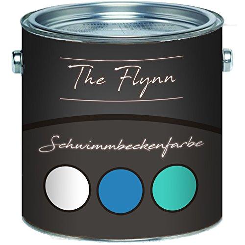 The Flynn Schwimmbeckenfarbe auserlesene Poolfarbe in Blau Weiß Grün Seegrün...