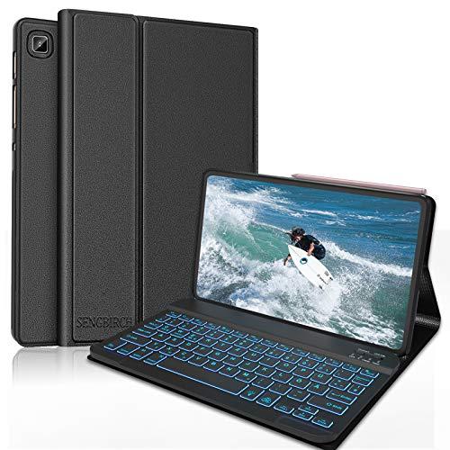 SENGBIRCH Beleuchtet Tastatur für Samsung Galaxy Tab S6 Lite, Bluetooth...