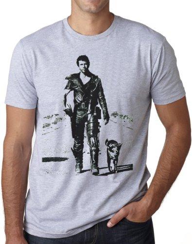 OM3® MAD MAX - T-Shirt Road Warrior Action Hollywood Kult Movie USA, XL, Grau...