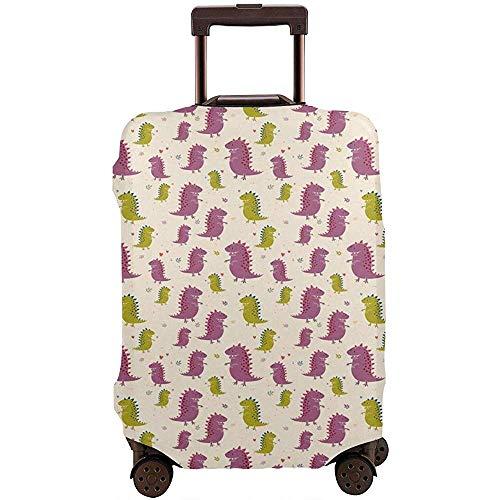 Reisegepäck-Abdeckung Molliger Dinosaurier, der glücklich...