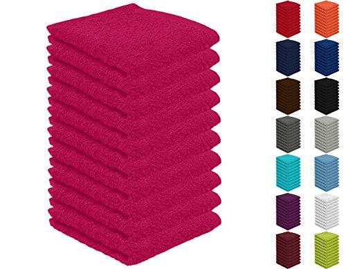 10er Pack Seiftücher, Seiflappen in vielen Farben 30x30 cm Magenta 100%...