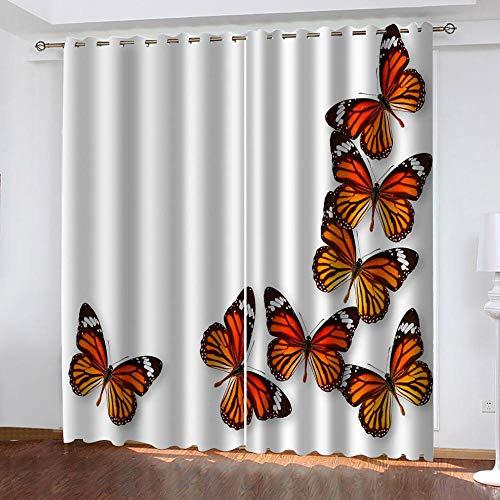 Vorhang Verdunkelungsvorhänge Blickdichte Gardinen Schöner Schmetterling 3D...