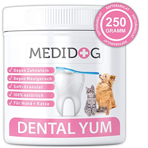 Medidog Dental YUM 250g Extra Stark gegen Mundgeruch, Zahnsteinentferner und...