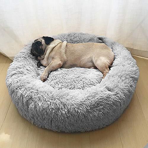 Wuudi Haustierbett 50 cm Hundebett Katzenbett Rund Weich und Weich für...