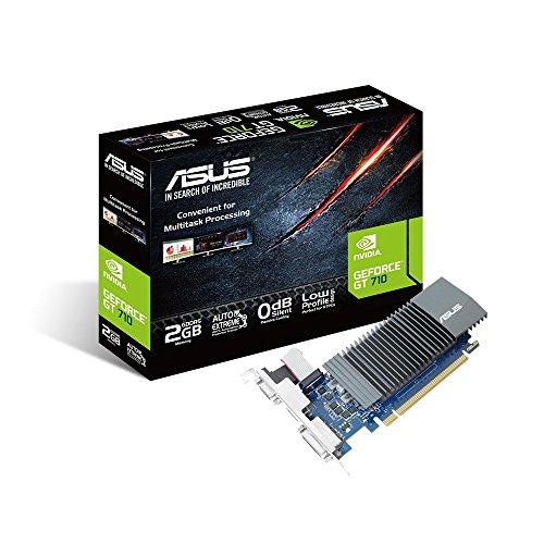 ASUS NVIDIA GeForce GT 710 Silent Grafikkarte (2GB DDR5 Speicher, 0dB Kühlung,...