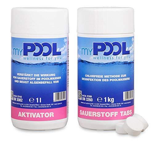 myPOOL Spar-Set Sauerstoff Tabs + Aktivator/Schwimmbecken- Desinfektion ohne...
