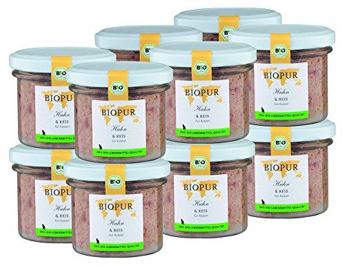 BIOPUR Bio Huhn & Reis für Katzen 12x100g