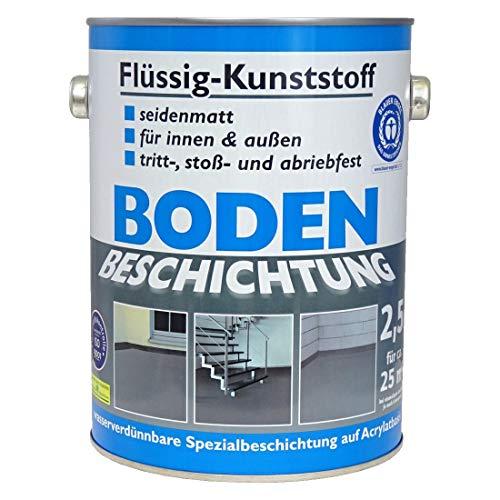 Wilckens Bodenfarbe Flüssig Kunststoff RAL 7016 Anthrazitgrau 2,5 l, Beton...
