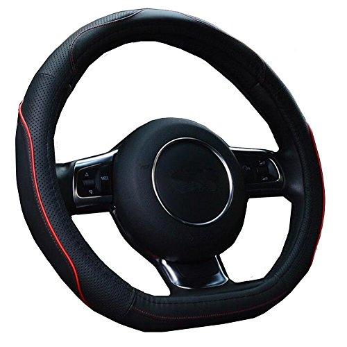 HCMAX D Typ Fahrzeug Lenkradabdeckung Auto Lenkradschutz D-Form Durchmesser 38cm...