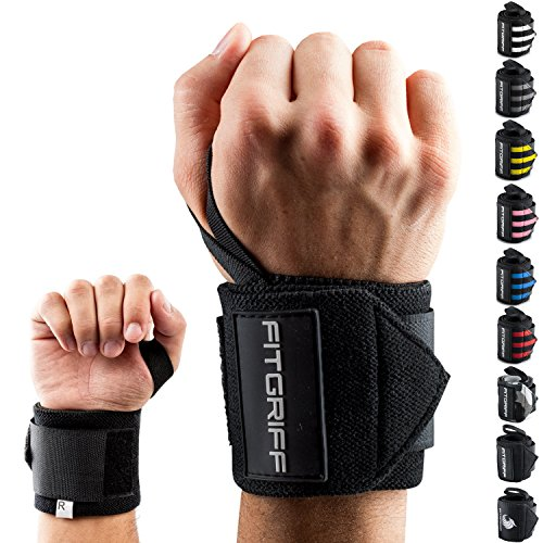 Fitgriff Handgelenk Bandagen [Wrist Wraps] 45cm Handgelenkbandage für Fitness,...