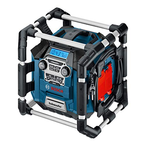 Bosch Professional 18V System Akku Baustellenradio GML 20 (20 Watt, USB, SD, 2x...