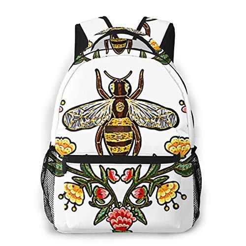 Laptop Rucksack Schulrucksack Bienen Blumen Insekt 038, 14 Zoll Reise Daypack...