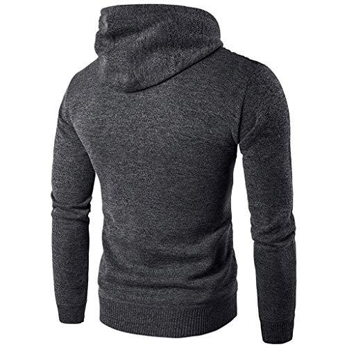 Qinhanjia Herren Herbst Winter Langarm Casual Hoodie Pullover Sweatshirt Outwear...