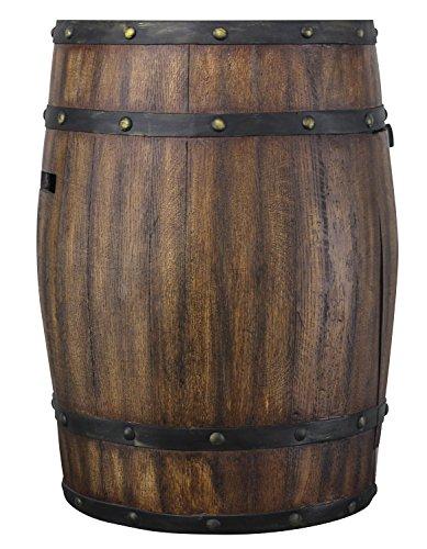 HomComfort Gas Whiskey Barrel Terrassenstrahler Braun