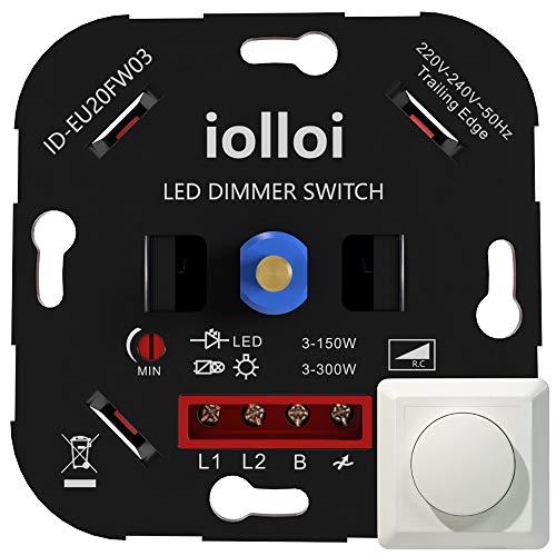 iolloi LED-Dimmer-Schalter, Drehdimmer Unterputz Dimmschalter für Dimmbare LEDs...
