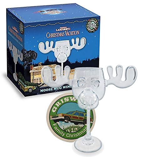 Cultica Griswold Weinglas im Elchdesign Moose Mug Glas inklusive Griswold...