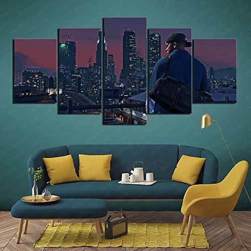 CAFO Konferenzdekoration Grand Theft Auto 5 gta5 5 Panel Painting Wandposter...