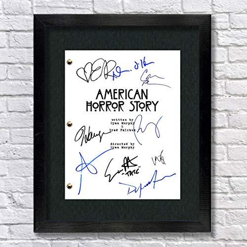 American Horror Story TV Cast Autogramm Nachdruck 8,5 x 11 Schrift, gerahmt,...