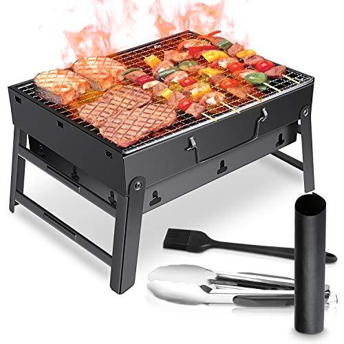 WOSTOO Holzkohlegrill,BBQ Grill Charcoal Grill Picknickgrill Tragbar Klappgrill...