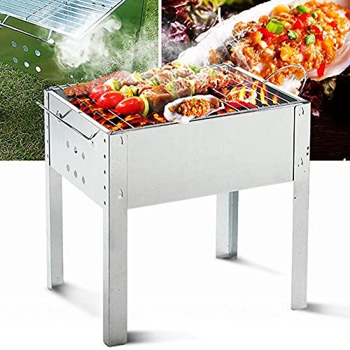 Tragbar BBQ Grill, Grillgitter, Edelstahl-Klappkohle BBQ Grill,...
