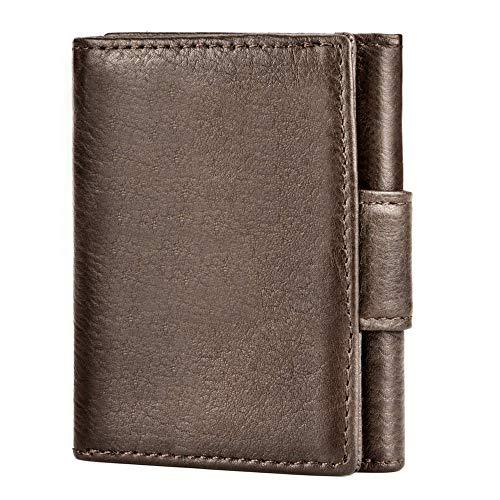 UNEEDE Mini Geldbörse mit RFID-Schutz Leder Slim Wallet Geldklammer mit...