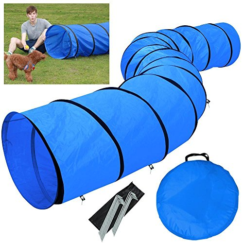 Yaheetech Hundetunnel Spieltunnel Training Tunnel Agilitytunnel 546 x 60 cm mit...