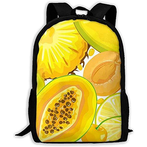 Lmtt Rucksack Mix gelb Früchte und Beeren Bookbag Casual Reisetasche für Teen...