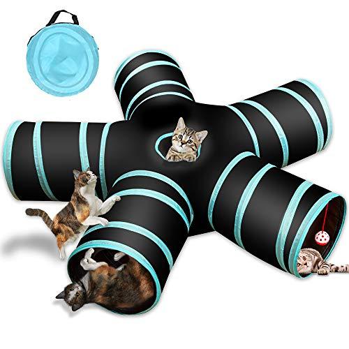 Katzenspielzeug Katzentunnel, Katze Spielzeug Hundenspielzeug Spieltunnel 5-Wege...