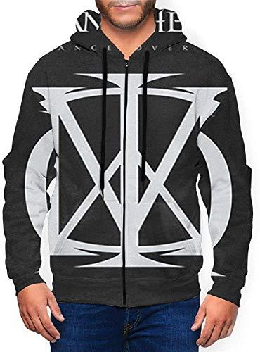 Dream Theater Mens 3D Fashionable Zipper Hoodie Coat Black