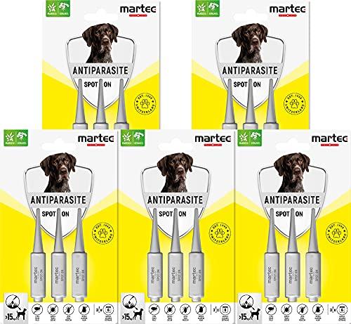 martec PET CARE Spot on für Hunde ab 15 Kg - Parasitenabwehr auf pflanzlicher...
